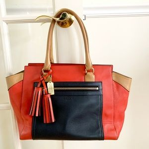 COACH Legacy Colorblock Leather Carryall
